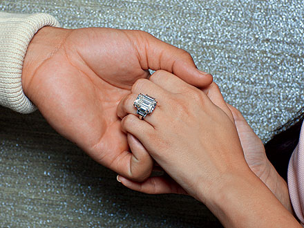 Kim Kardashian's ridiculous engagement ring . . . for a marriage that lasted less than 90 days . . .