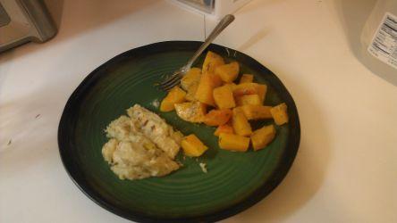 chicken marsala and squash