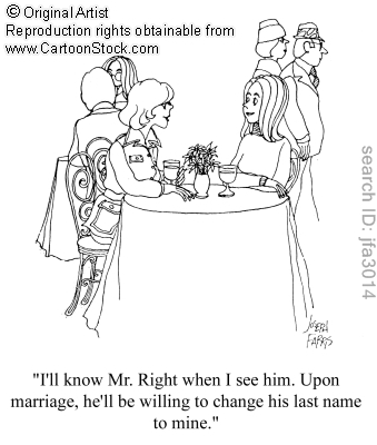 Wedding Cartoon Name Change