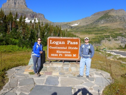 My husband & I at Glacier Ntnl Park this past Fall