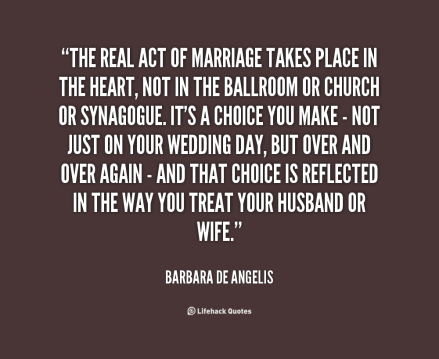 real act of marriage