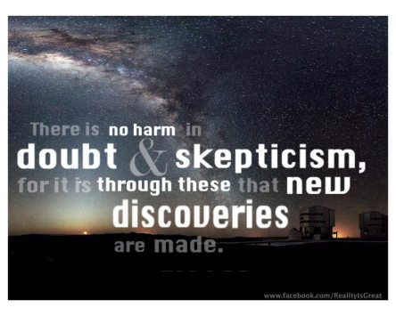 skeptic quote