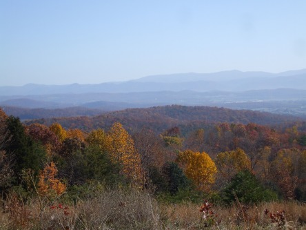 Beautiful fall colors at House Mountain near Lexington, VA