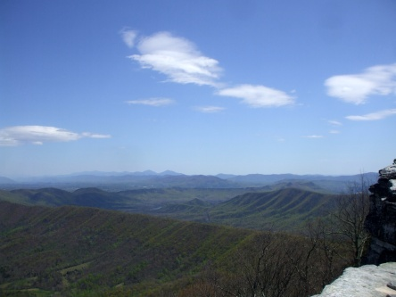 The most photographed spot on the Appalachian Trail is McAfee's Knob, outside of Roanoke