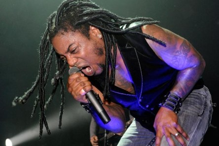 Off the top of my head, Lajon Witherspoon of Sevendust out of Atlanta is the only black lead singer I can think of in the rock/metal world.