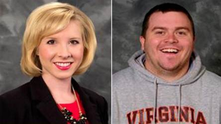 These are the two journalists who were shot & killed during a live broadcast at Smith Mountain Lake this morning