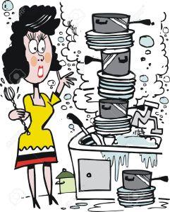 dishes cartoon