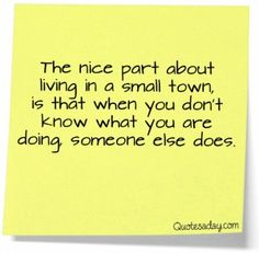small town quote