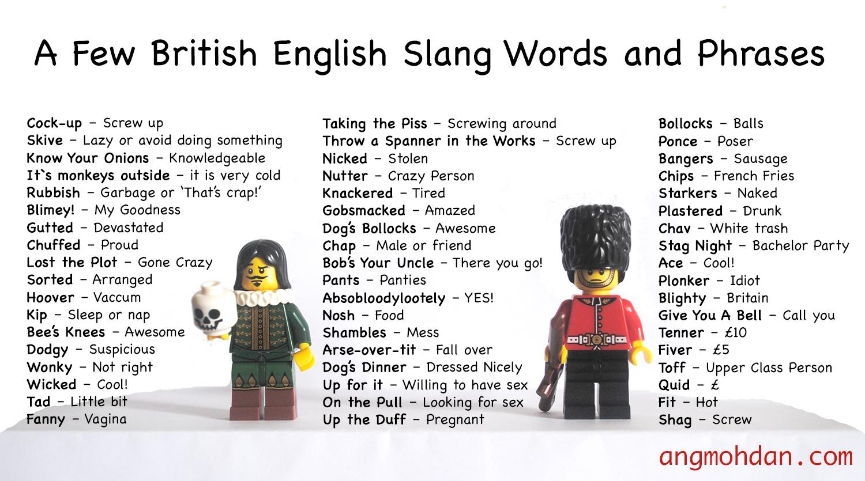 british slang