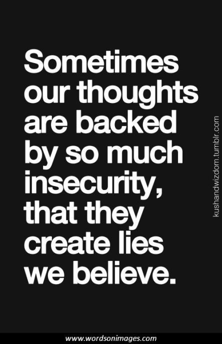insecurity quote