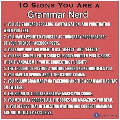 grammar nerd signs