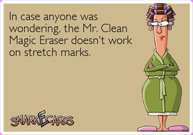 magic eraser stretch mark