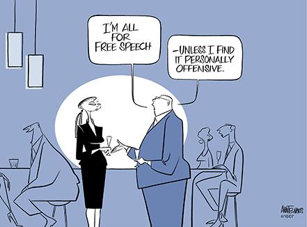 free speech cartoon