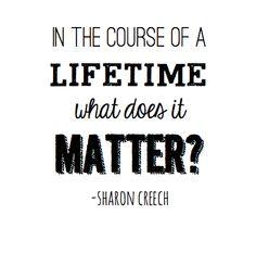 course of a lifetime