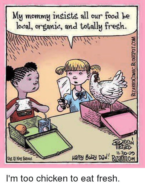 organic food cartoon